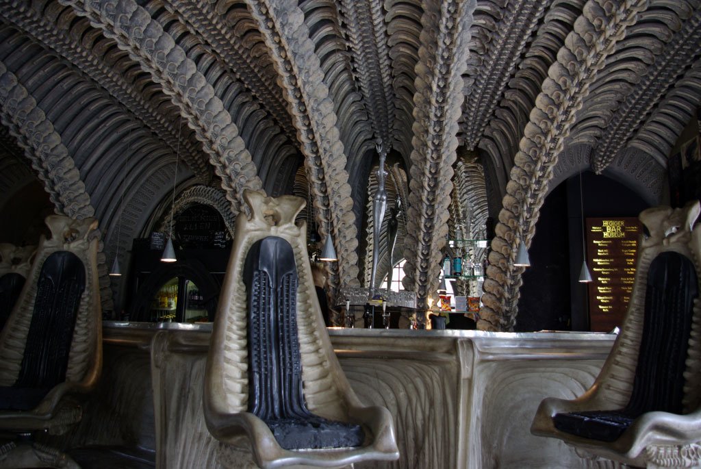Bar in the Giger. H R  Giger Museum   Gruy res  Switzerland   Chronic cycling